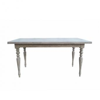 Laurent Dining table 160 Gray Rustic