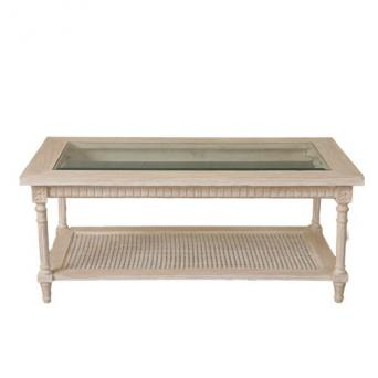 Flank centertable white wash rustic