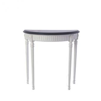 Console Clala  French White Darkgray Tabletop