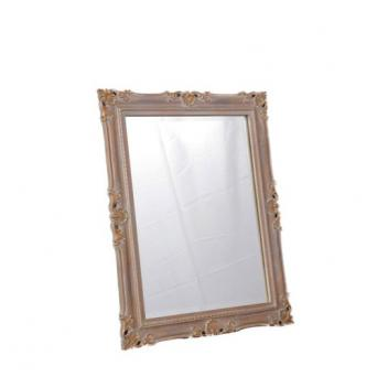 Nina  mirror  French Antique White and Goldwash