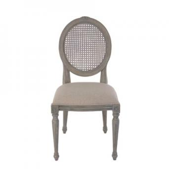 Lilly Dining Chair rattan Gray rustic