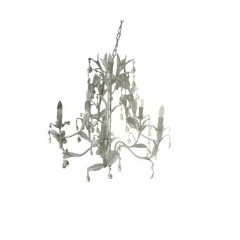Iron chandelier Laura 5bulbs French antique gray